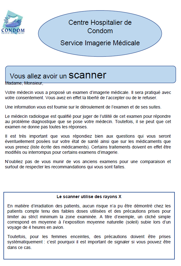 image consentement scanner